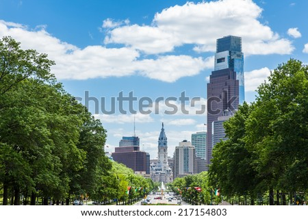 Philadelphia skyline - Pennsylvania - USA - stock photo