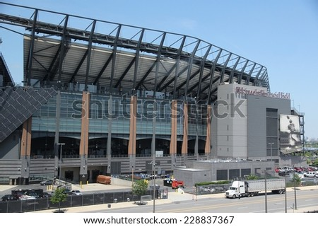 PHILADELPHIA, USA - JUNE 12, 2013: Lincoln Financial Field stadium in Philadelphia. It is the home stadium for NFL team Philadelphia Eagles and Temple Owls university football team. - stock photo
