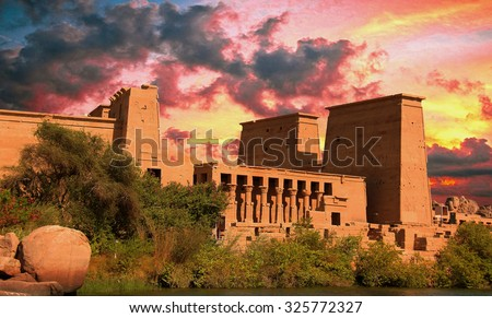 Philae temple in Egypt - stock photo