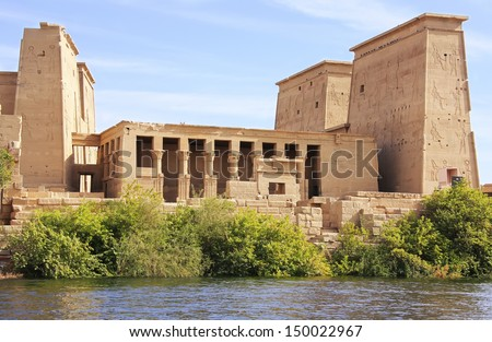 Philae Temple, Lake Nasser, Egypt - stock photo