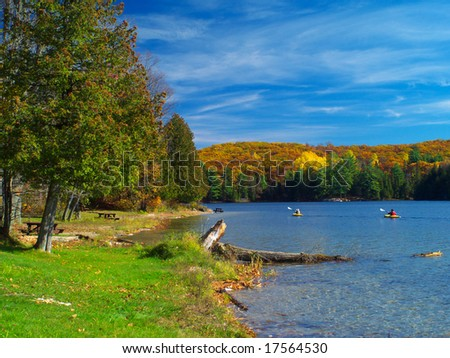 Philippe lake in Gatineau Park, Hull, Canada - stock photo