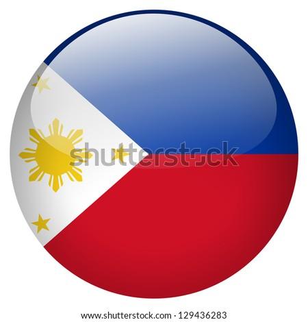 Philippines flag button - stock photo