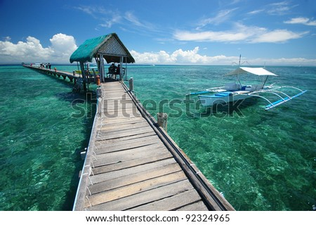 philippines sea - stock photo