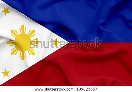 Philippines waving flag - stock photo