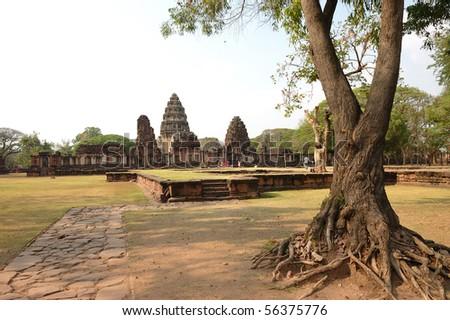 Phimai Stone Castle, Thailand - stock photo