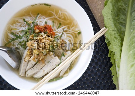 pho noodle for lunch vietnamese food style - stock photo