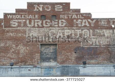 Phoenix, Arizona / USA - January 24, 2016: old warehouse building in Phoenix Downtown.  - stock photo