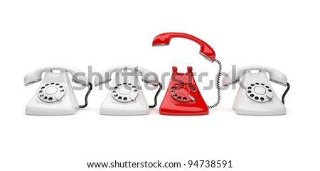 Phone call 3D. Business concept. Isolated on white background - stock photo
