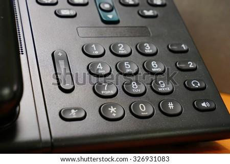 Phone dial pad     - stock photo