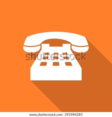 phone flat design modern icon with long shadow for web and mobile app  - stock photo