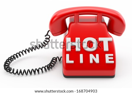 phone hot line concept - stock photo
