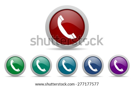 phone icon telephone sign  - stock photo
