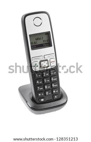 Phone isolated on white - stock photo
