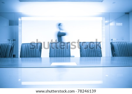 phone man move in Meeting room - stock photo