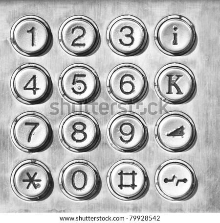 Phone number pad - stock photo