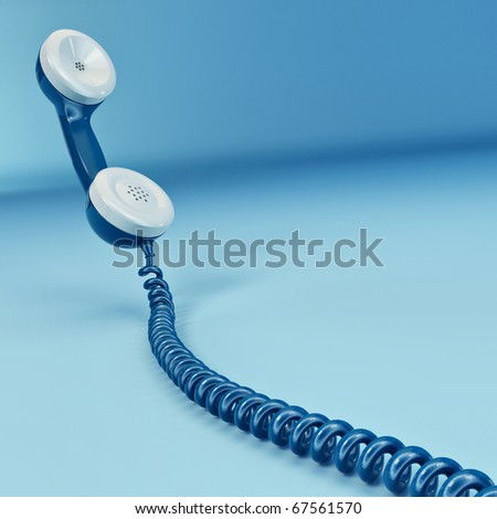 Phone reciever on white isolated background. 3d - stock photo