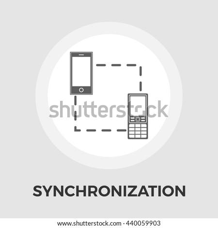 Phone sync icon - stock photo