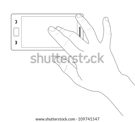 Phone touch gestures. Touch the screen - stock photo
