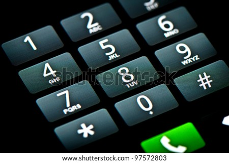 Phone Touchscreen Keypad - stock photo