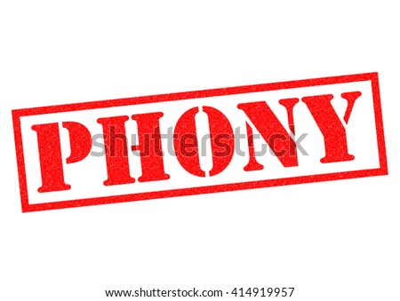 PHONY red Rubber Stamp over a white background. - stock photo