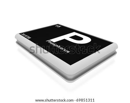 phosphorus chemical element button - stock photo
