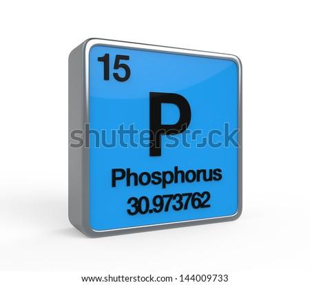 Phosphorus Element Periodic Table - stock photo