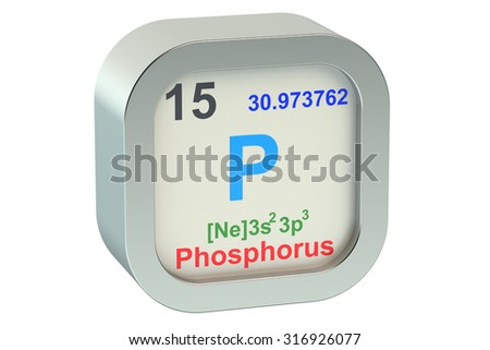 Phosphorus isolated on white background - stock photo