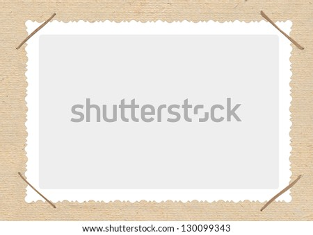 photo album with frame - stock photo