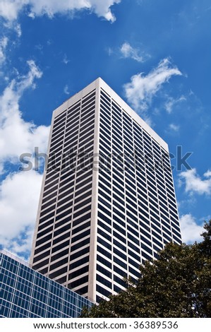 photo apartment block high rise sky scrappers - stock photo