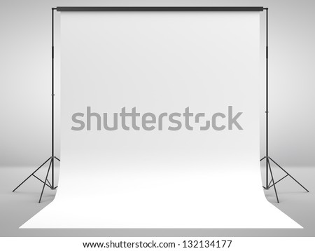 photo background in white room - stock photo