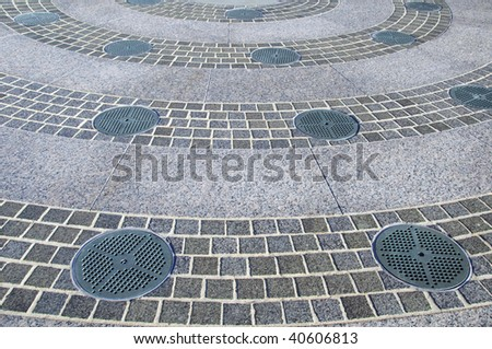 photo capture of city water waste drains - stock photo