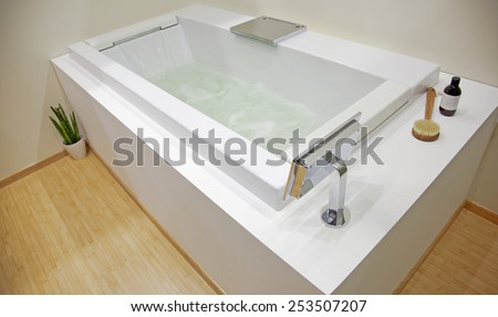 Photo element bathroom interior - stock photo