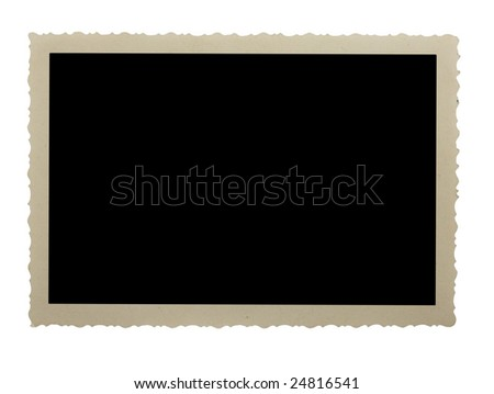Photo frame isolated on a white background - stock photo