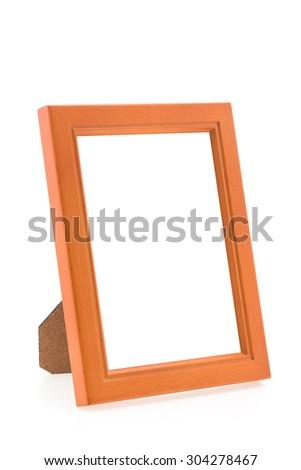 Photo Frame isolated on white background - stock photo