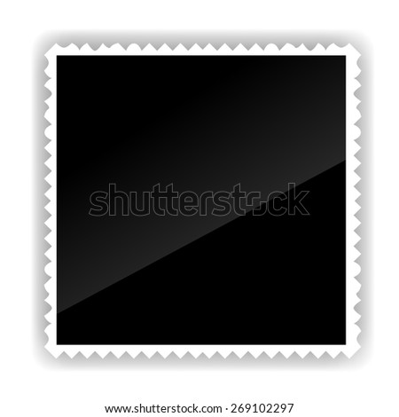 Photo Frame Isolated on White Background. Black and white. - stock photo
