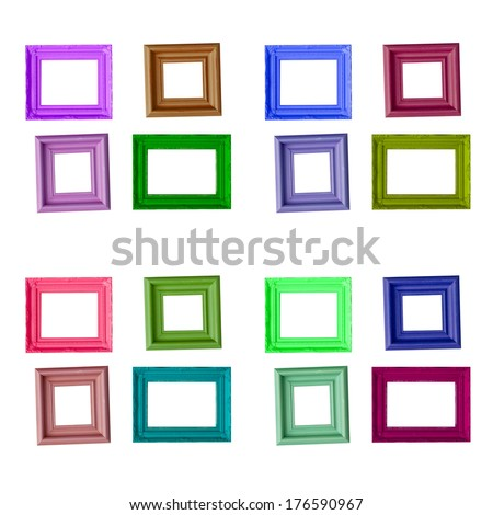 photo frame isolated on wite background - stock photo