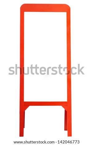 photo frame on white background - stock photo