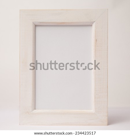 photo frame white on white - stock photo