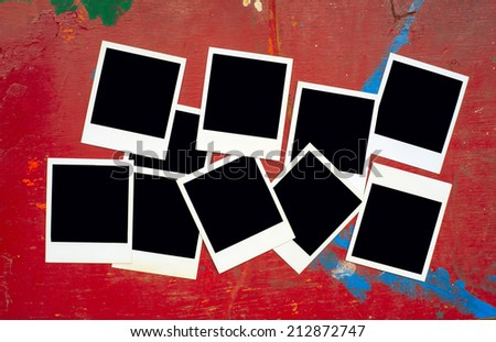 photo frames, free space for your pics or copy  - stock photo