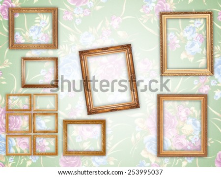 Photo frames isolated background wallpaper - stock photo