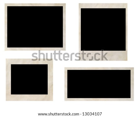photo frames isolated on white - stock photo