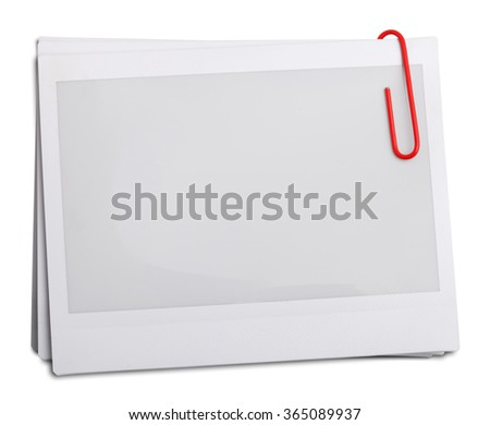 photo frames isolated on white background with clipping path - stock photo
