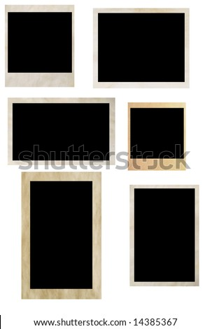photo frames isolated on white (series) - stock photo