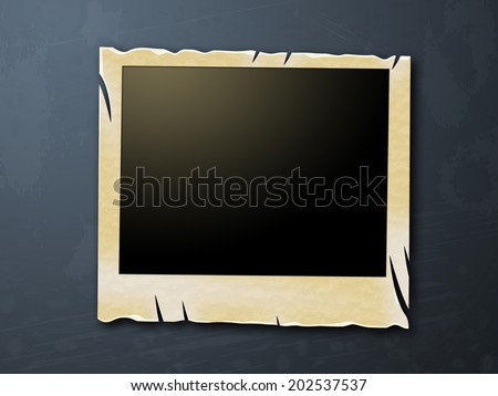 Photo Frames Representing Blank Space And Layout - stock photo