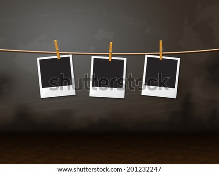 Photo Frames Representing Text Space And Surface - stock photo