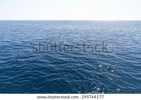 Photo just the beautiful sea in summer - stock photo