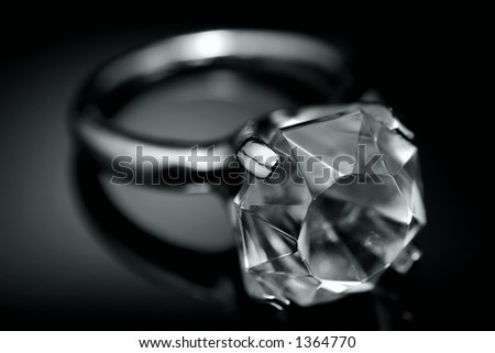 Photo of a Diamond Ring - stock photo