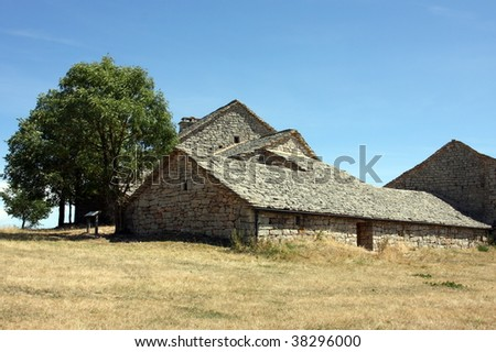 photo of a farm from france - stock photo