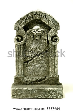 Photo of a Headstone / Tombstone - Halloween Related - stock photo