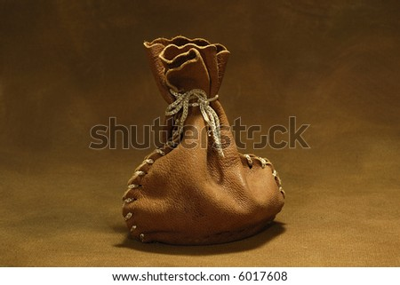 Photo of a Leather Sack / Sachel - stock photo